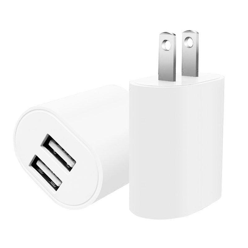 美福斯特 雙孔USB插頭 BSMI認證充電頭 2.4A快速充電器 手機平板通用智能快速充電器 R33724