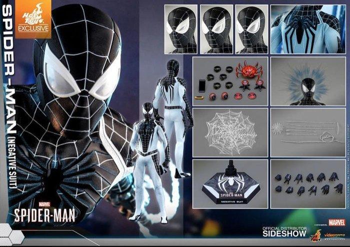 全新 Hot Toys 1/6 VGM36蜘蛛人 Spiderman 負空間戰衣 Negative Suit