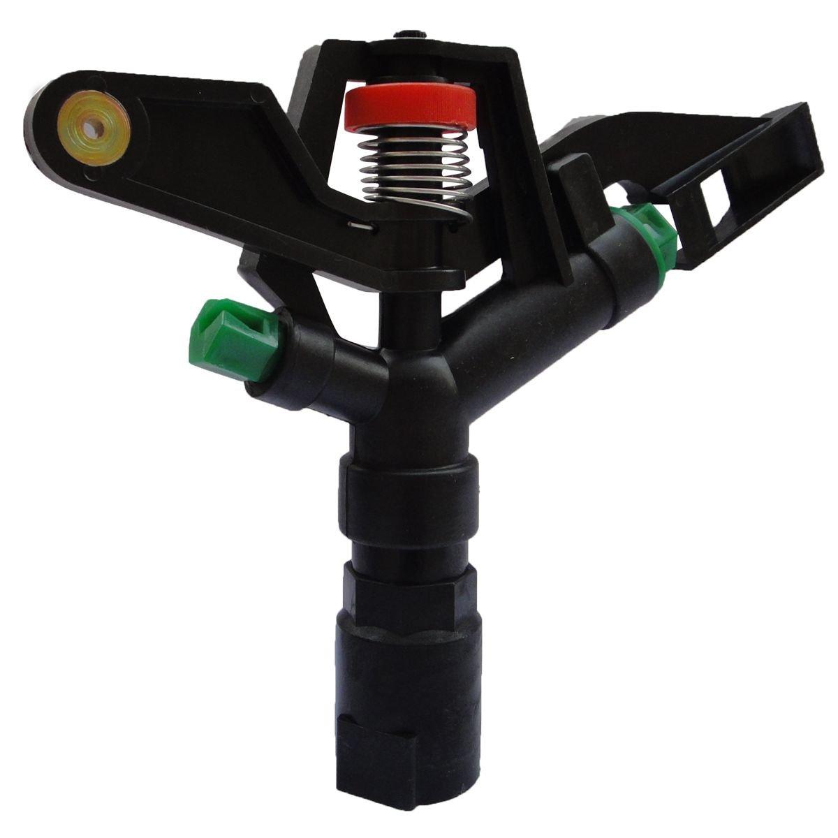 小花 店-1寸塑料搖臂噴頭雙噴嘴自動旋轉園林農業灌溉草坪噴灌噴水設備360