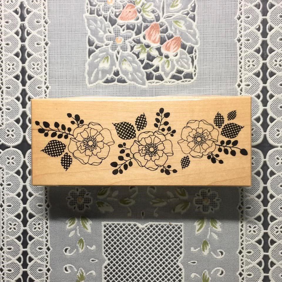 貝登堡印章 ~ K章(KT-4414)三朵現代花