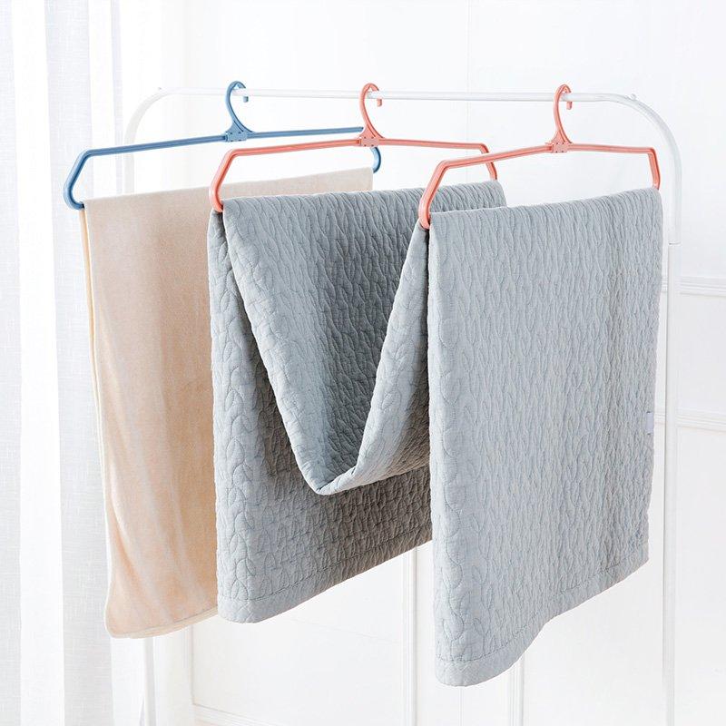 居家居家家 塑料折疊衣架防滑被單晾曬架 家用多 衣服掛床單晾衣架