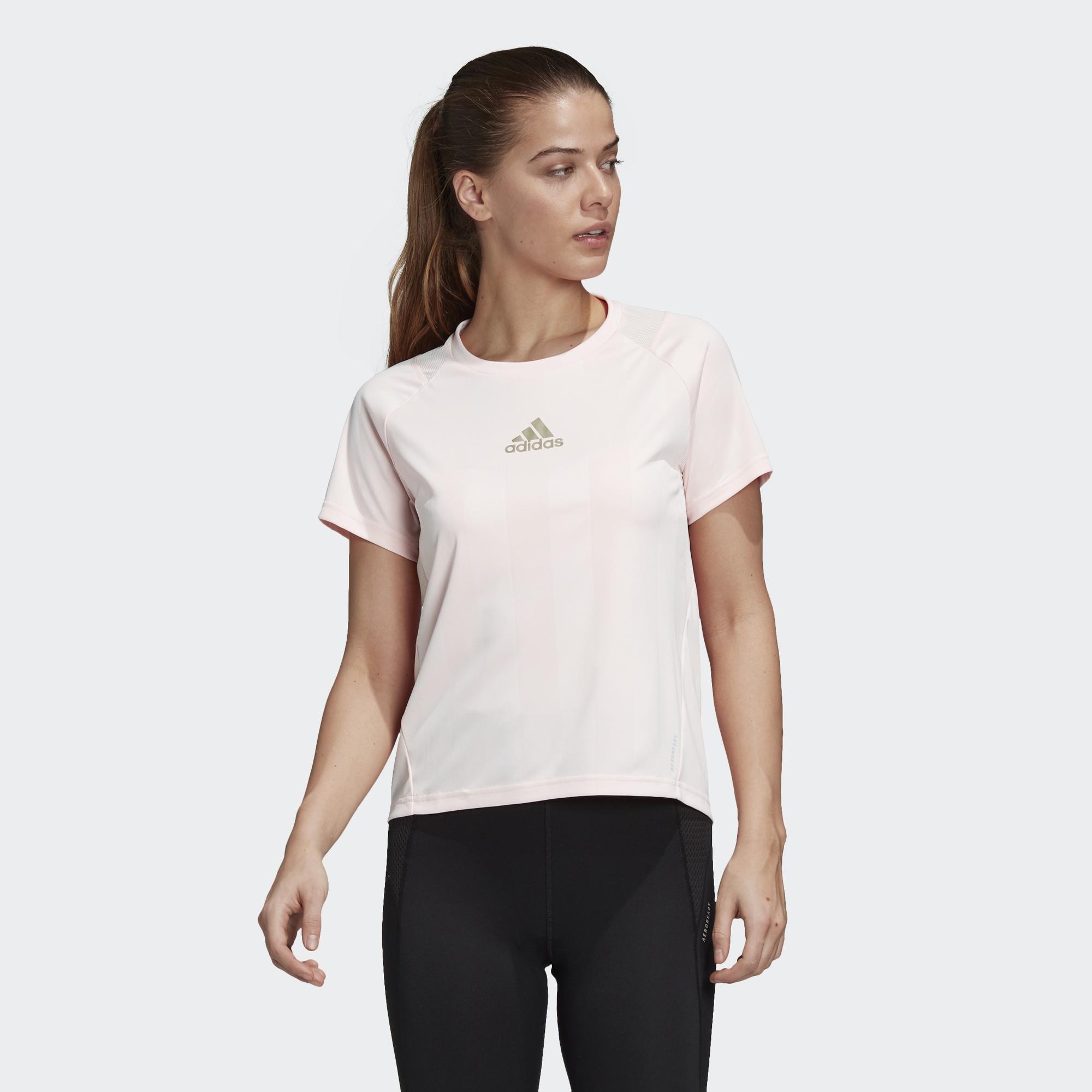 限時特價南◇2021 3月 ADIDAS EDGE 短袖上衣 愛迪達 粉紅色 運動 短TEE 訓練 短T FS9850