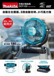 【小人物五金】牧田 DCF102Z 充電式電風扇 18V 電風扇 DCF102 空機14.4V 18V