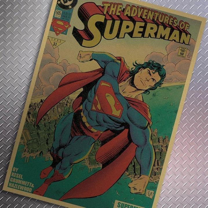 【貼貼屋】超人 Super Man 懷舊復古 牛皮紙海報 壁貼 店面裝飾 電影海報 278