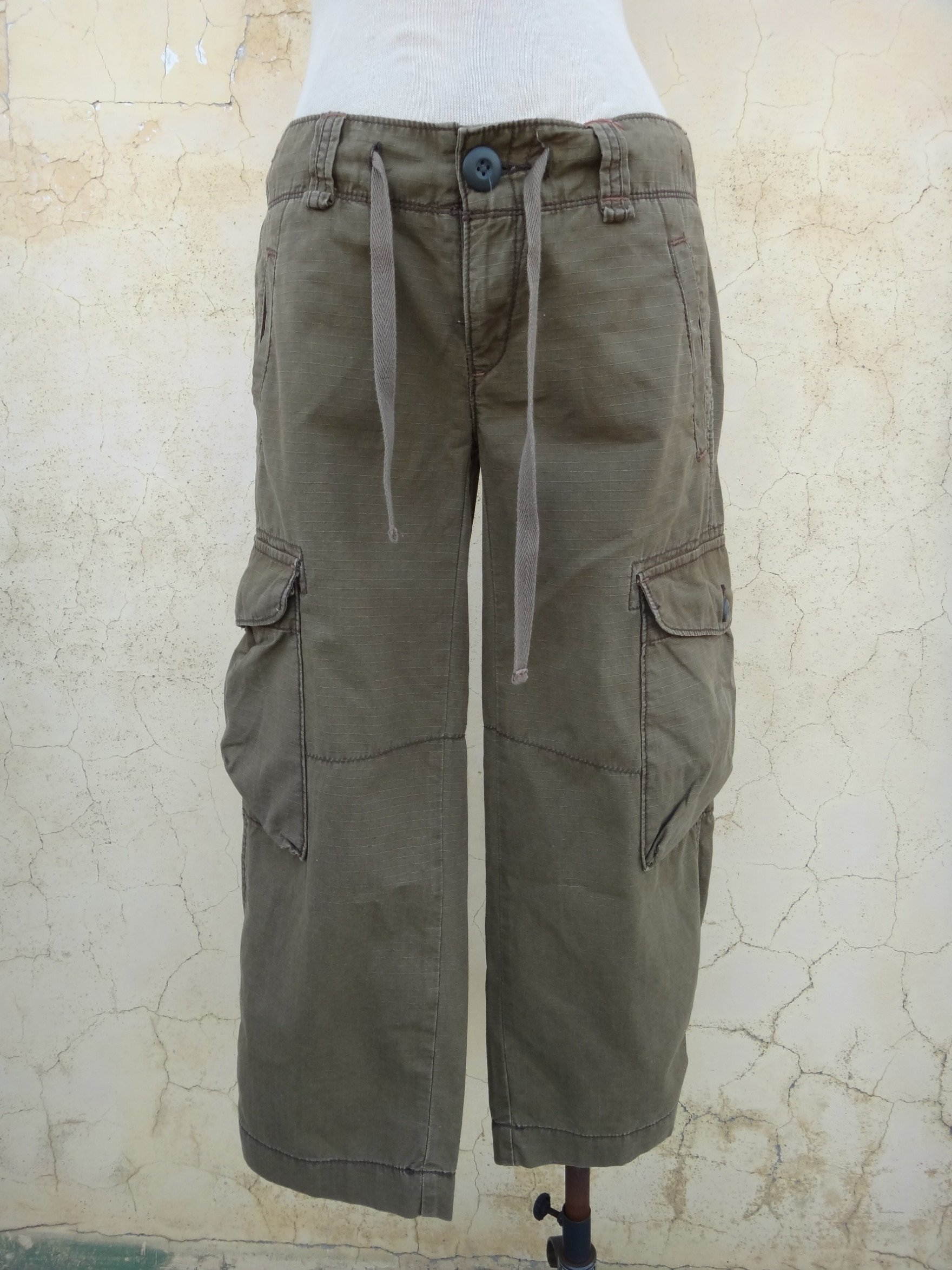 jacob00765100 ~ 正品 RALPH LAUREN POLO JEANS CO. 軍綠色 多口袋 八分褲 s