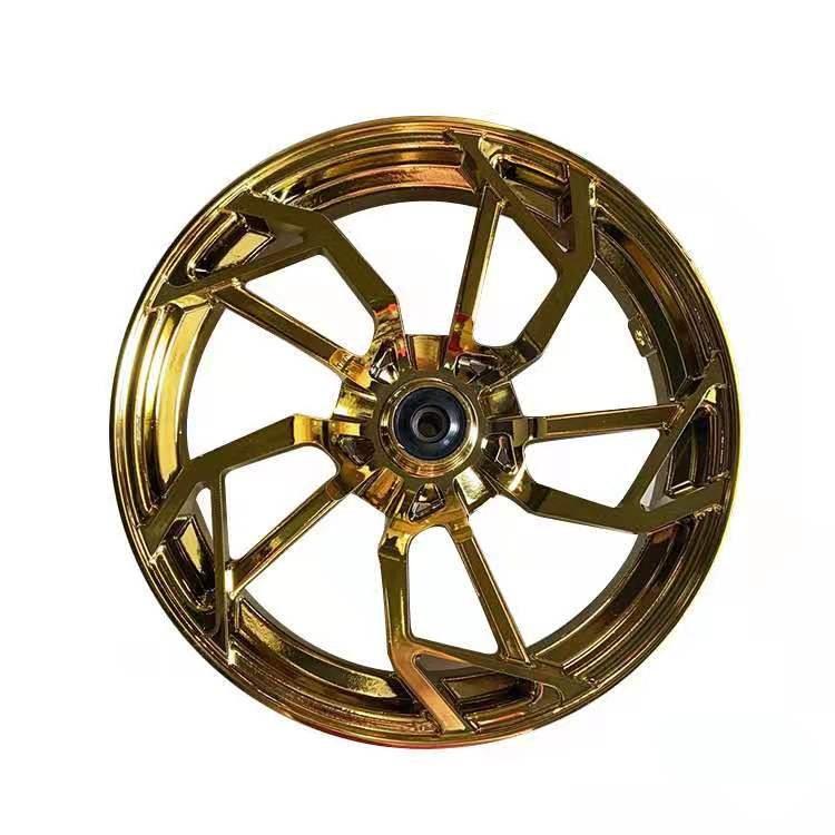 『台灣現貨』電摩 12吋 2.75寬 風火輪 鋁合金輪圈 輪框 輪殼電鍍金 x戰警 戰狼 極客 電動車 摩托車 改裝