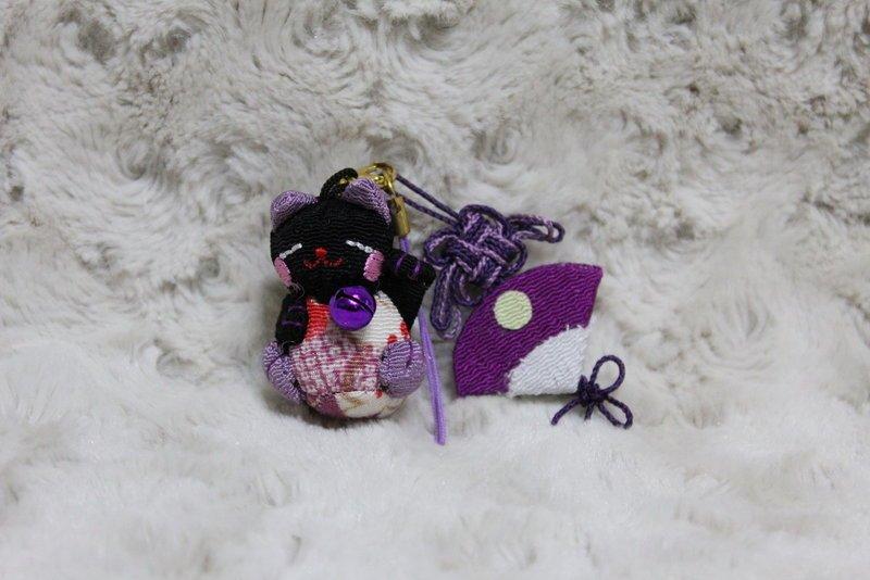 帶回 超可愛 風 和風 布藝 招財貓 紫色款  掛飾  收藏 特色 吊飾 包包掛飾 掛飾 品