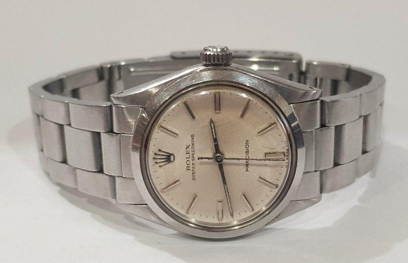 鴻圖當舖  勞力士Rolex 6430 中型蠔式手上鏈白鋼古董腕錶