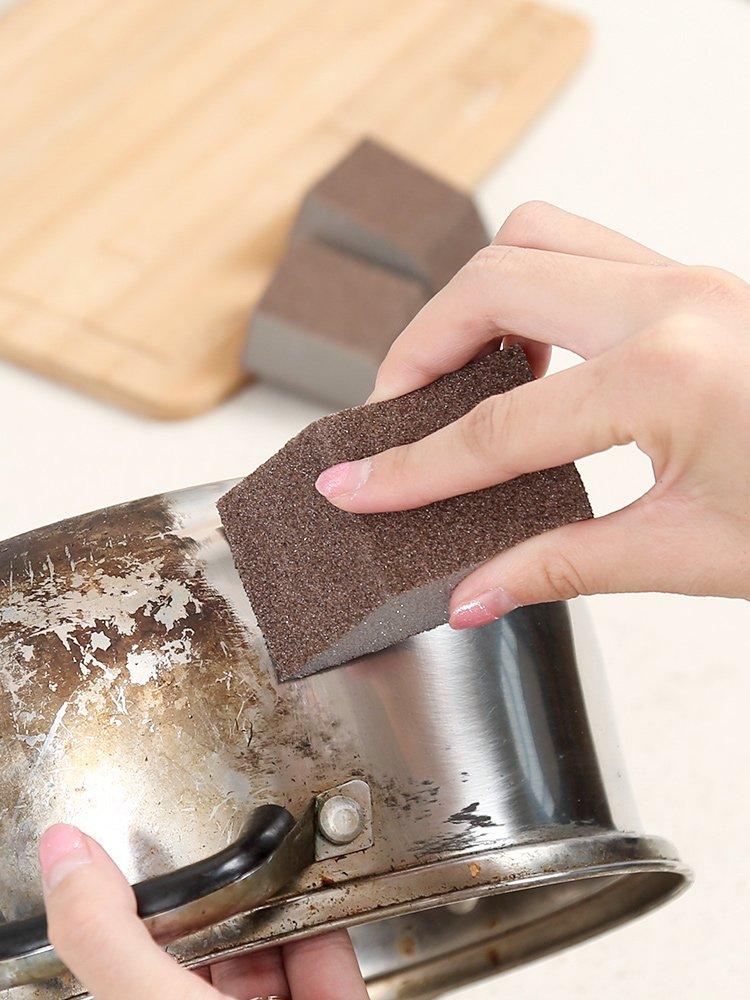 廚房清潔海綿納米除垢雙面加厚洗鍋底黑垢魔力擦洗碗金剛砂海綿擦