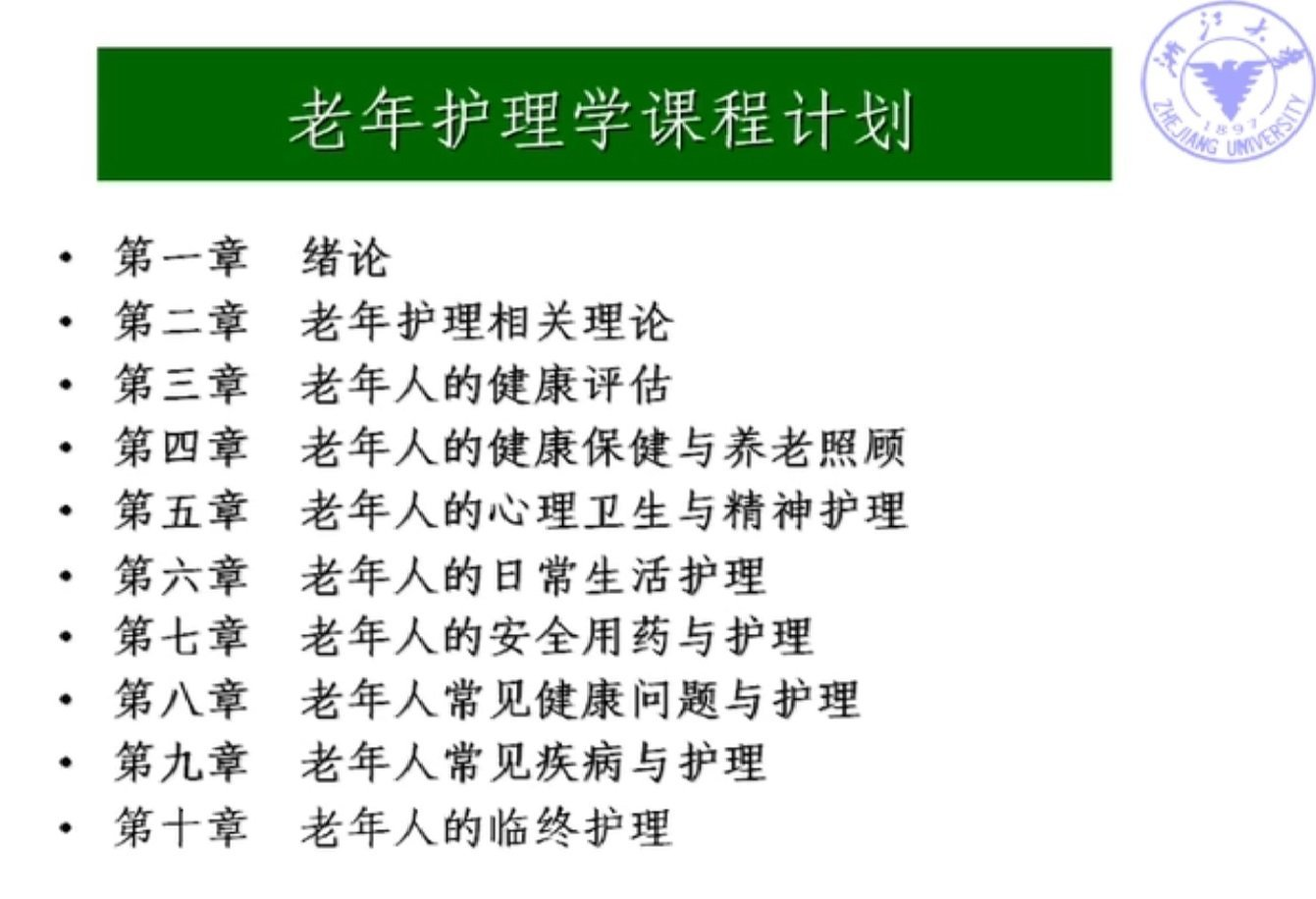 【9420-5083】老年護理學 教學影片(MP4檔案格式) - ( 24 堂課 ) 330 元 !