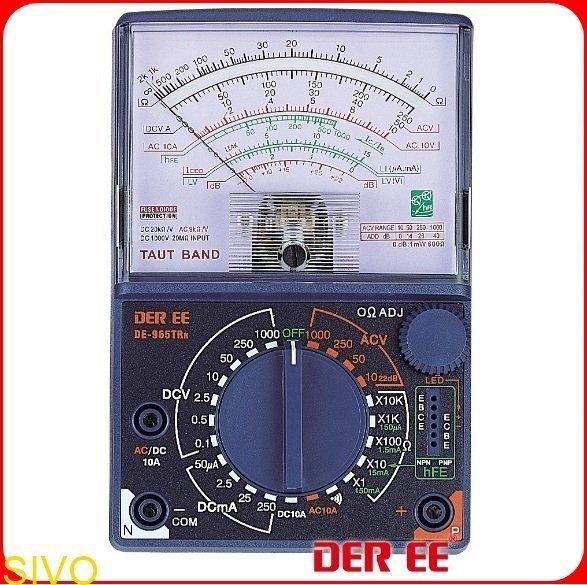 ☆SIVO電子商城☆台製DER DE-965TRn指針式萬用電錶 吊線式錶芯(TAUT BAND)DCA/ACA:10A