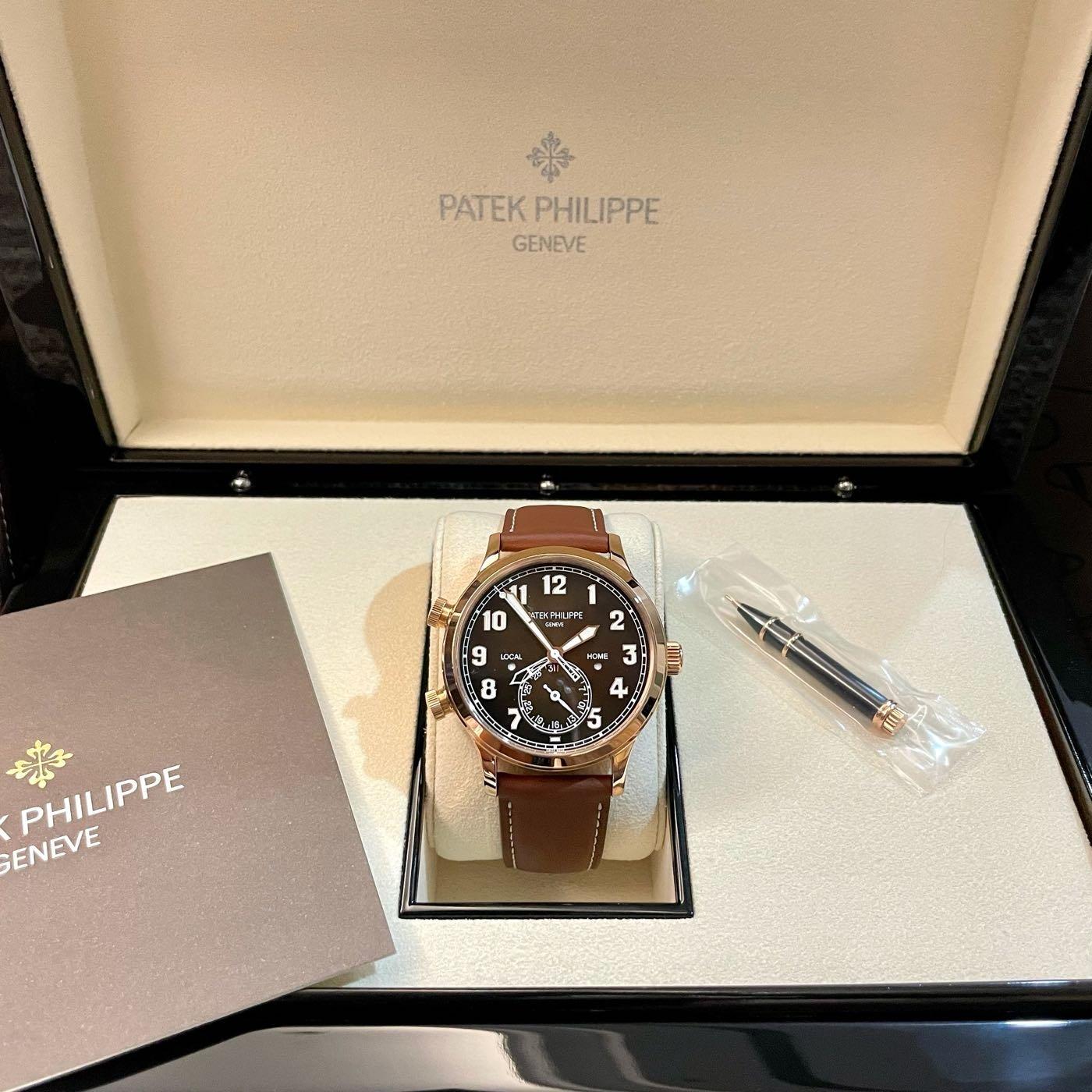 Patek Phillip 5524r 百達翡麗CALATRAVA飛行家旅行時間 雙時區 GMT 黃K金錶