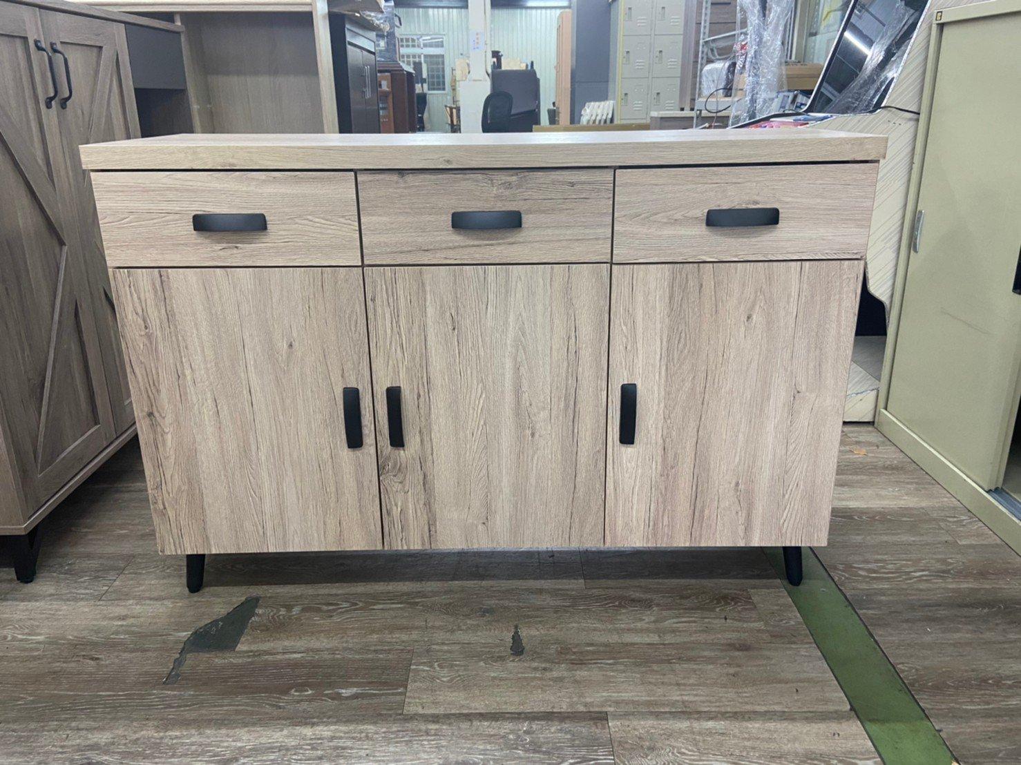 吉田二手傢俱❤全新原木色4尺櫥櫃 收納櫃 矮櫃 抽屜櫃 儲物櫃 置物櫃 電視櫃 玄關櫃 組合櫃 邊櫃 餐廚櫃