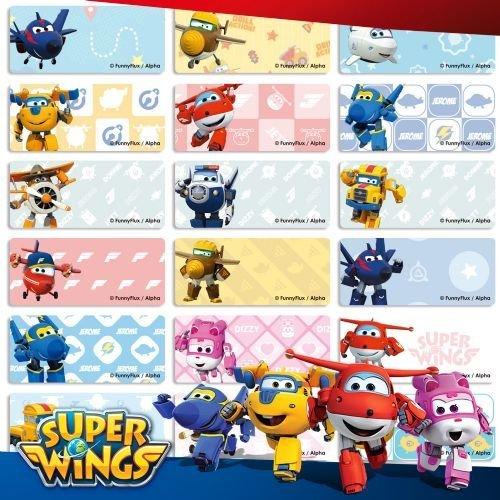 ???? ???? 姓名貼紙☘ (B12中張)超級飛俠 Super Wings 精美收納夾