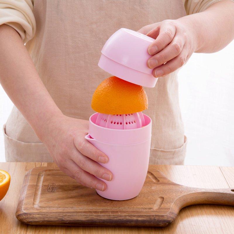 廚房寶居家家 手動橙汁榨汁機家用小型榨汁器 水果檸檬榨汁機迷你果汁機