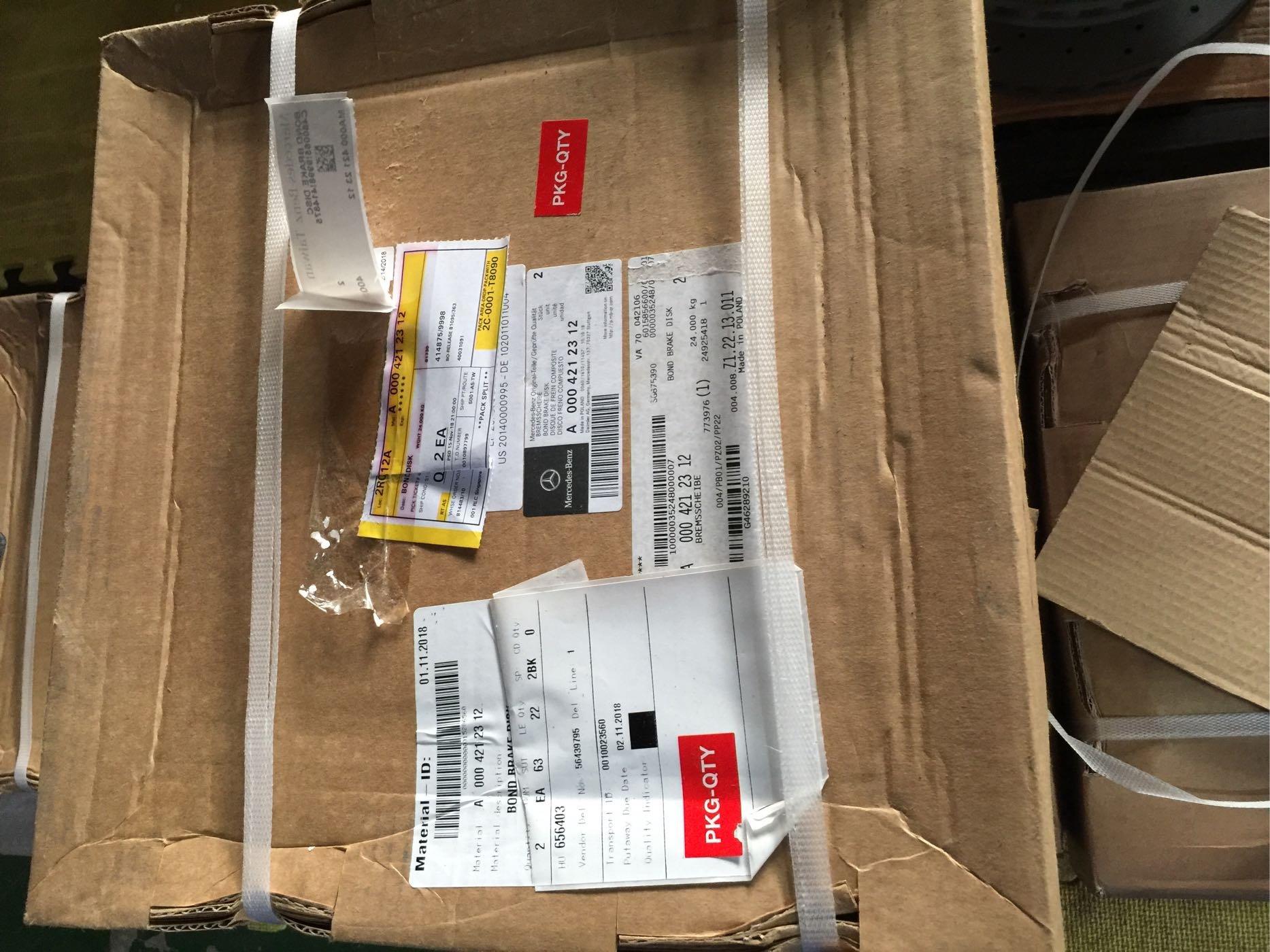 BENZ 正廠全新 W213 W253 W205 AMG sport 前360mm煞車碟盤組(一對)