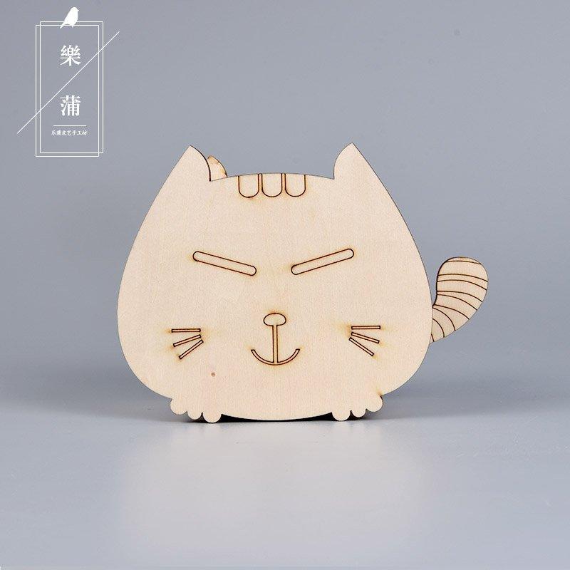聚吉小屋 #多  筆筒木制可愛收納盒木質名片座招財貓筆筒