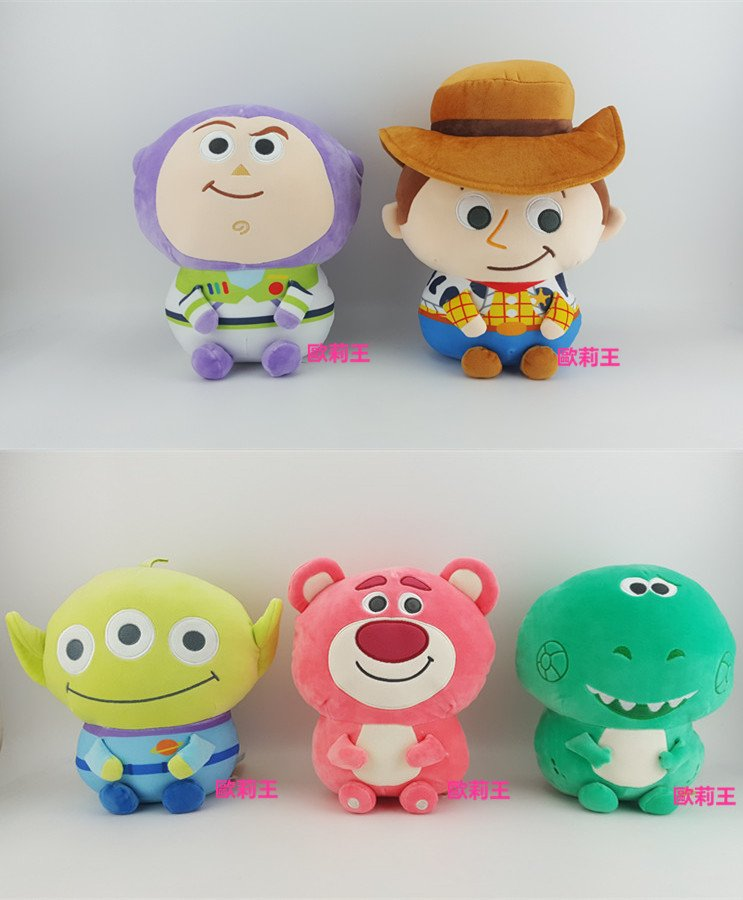 迪士尼 20cm 玩具總動員 Q版娃娃 胡迪 熊抱哥 三眼怪 抱抱龍 火腿豬 巴斯光年 絨毛娃娃 觸感柔軟 歐莉王