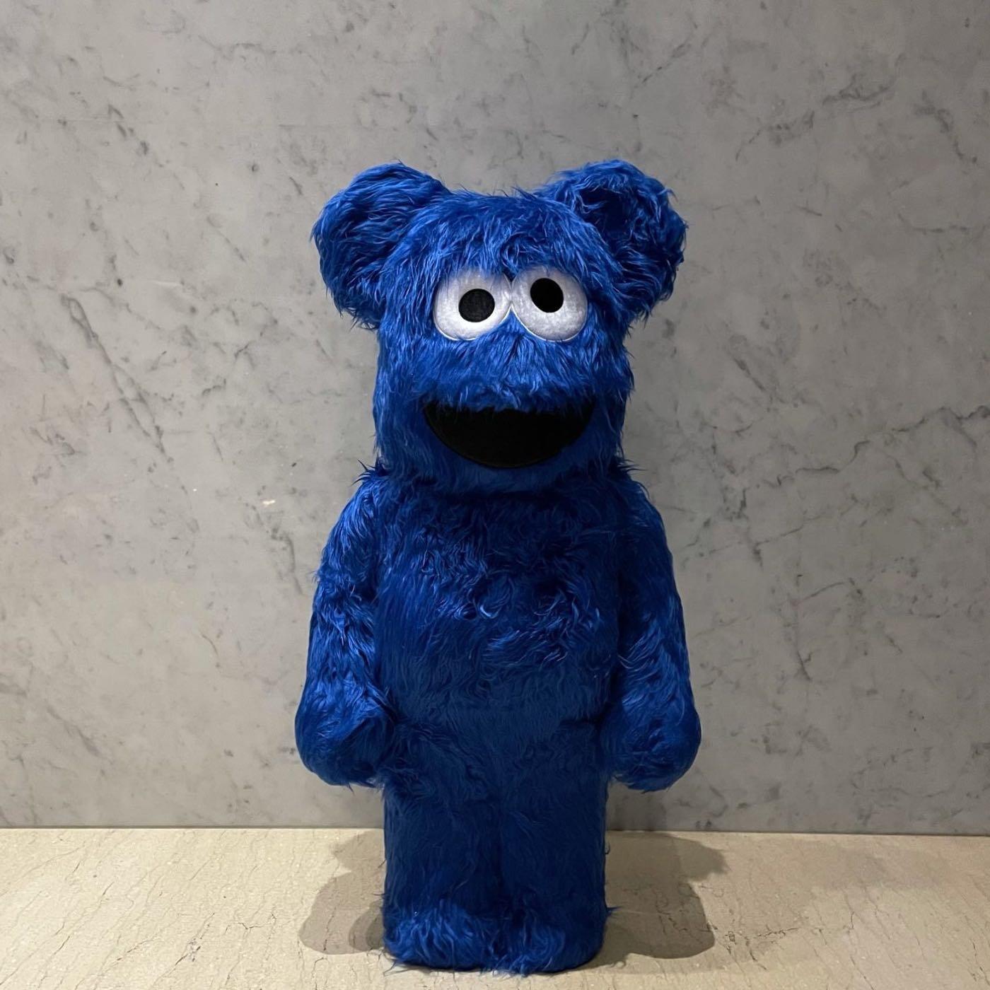台灣公司貨 Cookie Monster x Be@rbrick 1000% 庫柏力克 熊 餅乾怪獸 全新正品