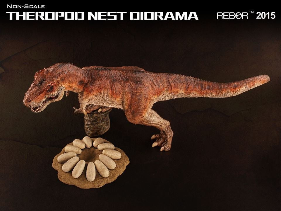 ***玩具high客***-NO.I99108-02-侏儸紀恐龍系列-英國REBOR-肉食恐龍巢穴模型