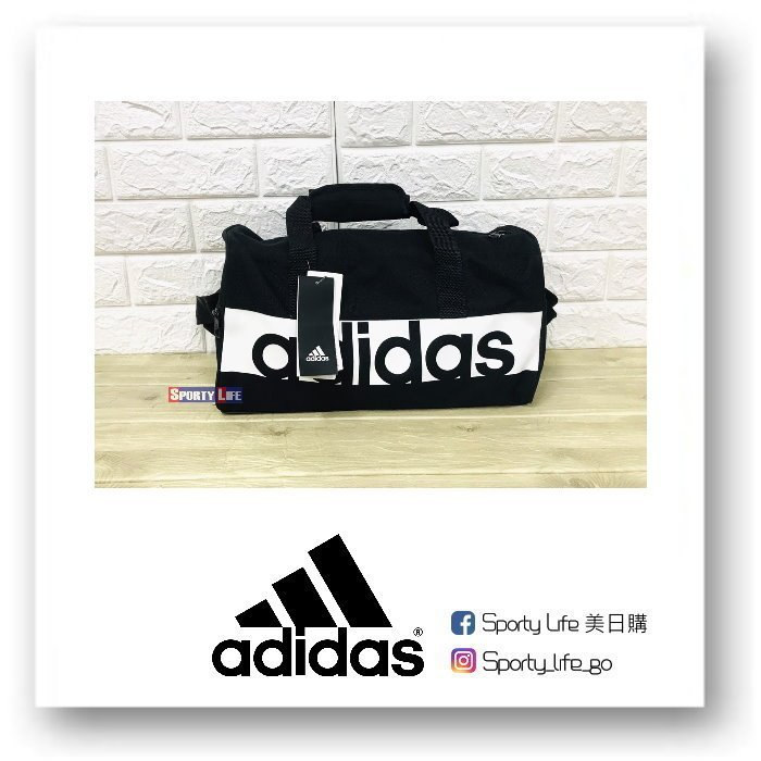 【SL美日購】Adidas Linear Team Bag XS 黑色 行李袋 愛迪達 手提包 旅行袋S99950