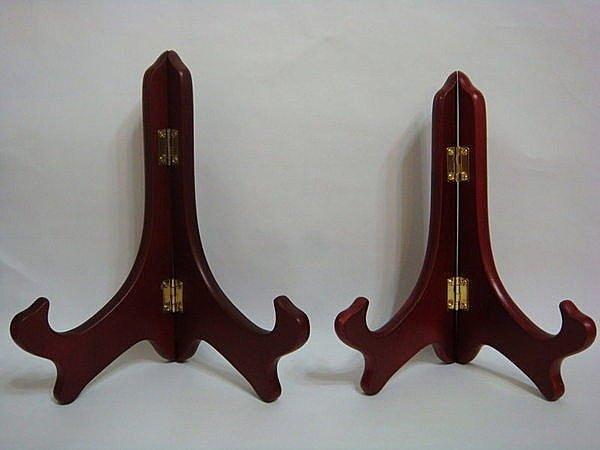 【佳樺盤架】9吋盤座 木製三角架 3角木架 陳列展示架 展示座 扇座扇架 陳列架 /