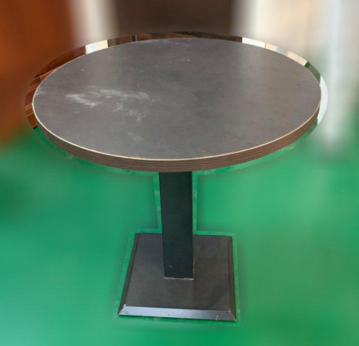 樂居二手家具(中)台中西屯二手家具買賣推薦 E120713*胡桃木洽談圓桌* 各式二手家具出清 二手桌椅 餐桌椅 休閒桌