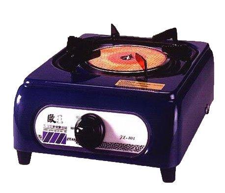 歐王遠紅外線單口爐JL-103(墨綠色)- 桶裝瓦斯 歐王遠紅外線單口爐 檢驗合格 安全 聚熱 檯面式瓦斯爐 烤肉休閒
