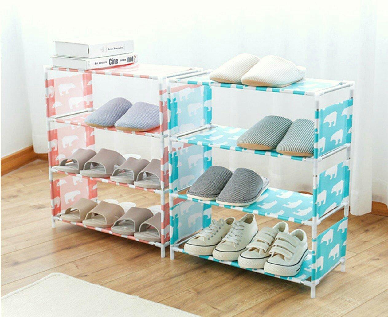四層組裝鞋架 鞋櫃  鞋架 置物架 多層鞋架收納櫃 家用防塵鞋架