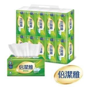 代購~6/4(箱購899含運)倍潔雅柔軟舒適抽取式衛生紙150抽X10包X8串(共80包)台灣製造.另有84包/箱