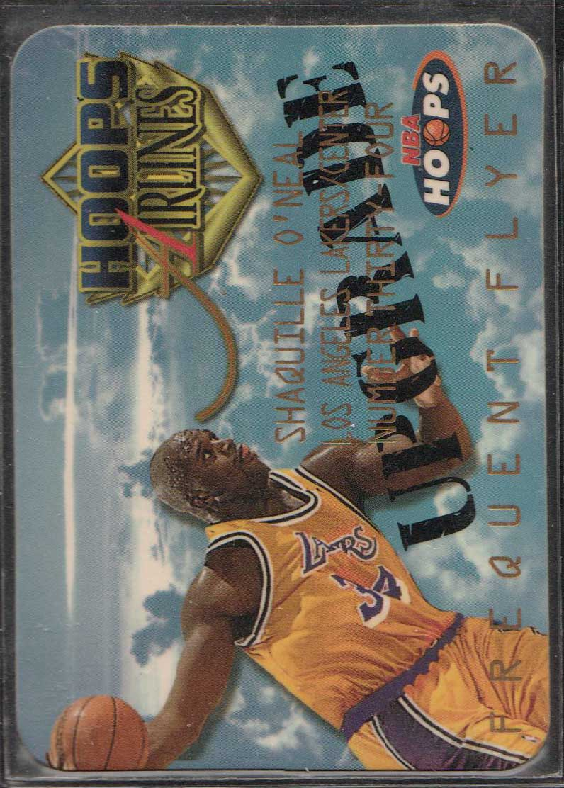 97-98 HOOPS FREQUENT FLYER UPGRADE #10 SHAQUILLE ONEAL