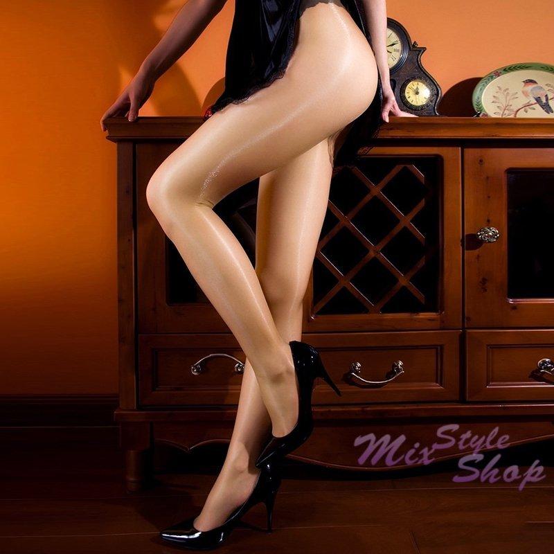 MIX style SHOP【S-007】淨透絲光❤12D油亮T襠透明無痕光澤褲襪 油光彈性絲襪~(4色)