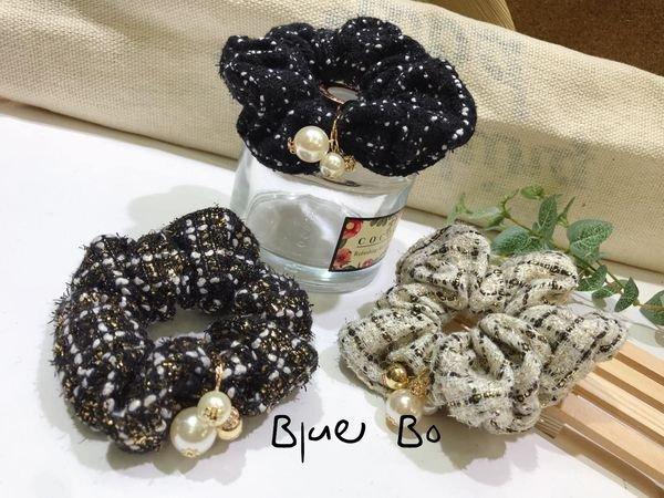 ~*BlueBo*~ 韓國飾品   小香風針織布圈  髮束 髮飾 綁綁