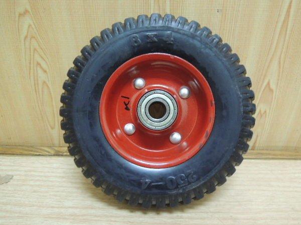 *中崙 【附發票】 8吋 PU輪 免打氣輪胎 手推車輪 獨輪車輪 雙軸承  中