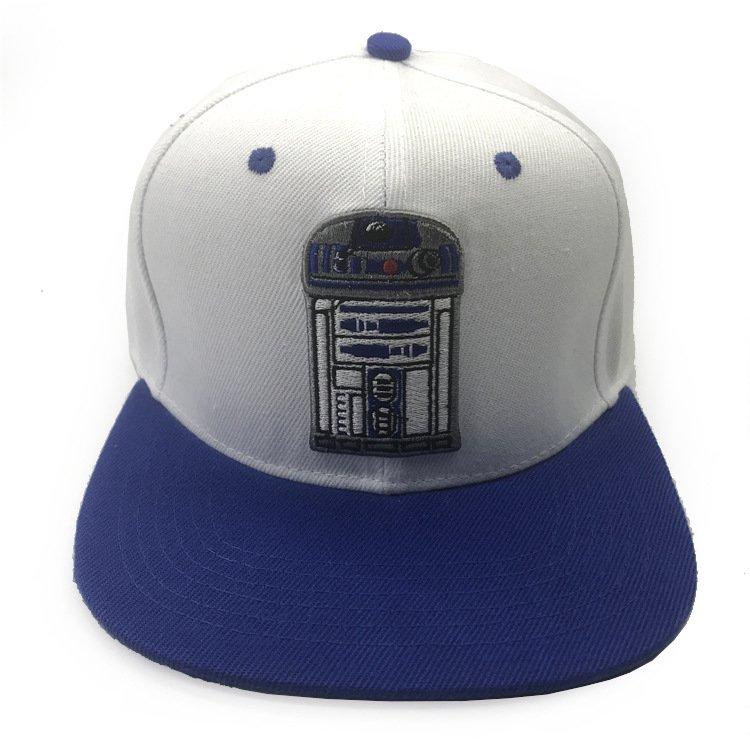 星際大戰平沿帽 Star Wars 棒球帽子 R2D2 帝國風暴兵 黑武士 潮刺繡韓國街舞嘻哈帽戶外遮陽帽