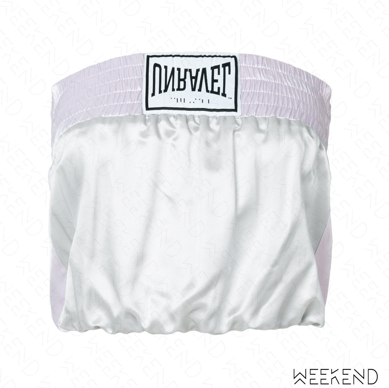 【WEEKEND】 UNRAVEL Logo 平口 上衣 淺灰色 18春夏新款