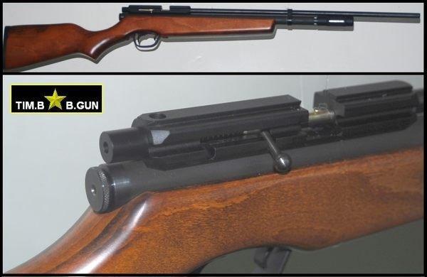 廠商展示品出清~2260改良版5.5MM口徑co2動力版狙擊槍長槍鋼質12條旋膛線槍管喇叭彈BB槍(福利品)