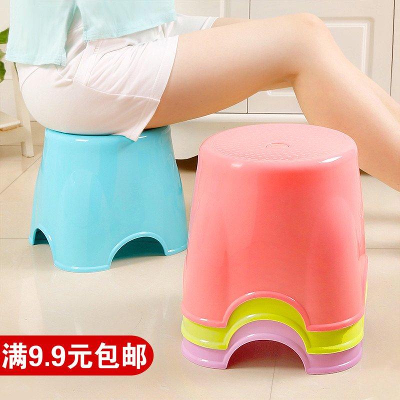 奇奇店-塑料凳子加厚型矮凳簡約家用高凳兒童成人小板凳餐桌凳換鞋凳椅子(買多件有 )