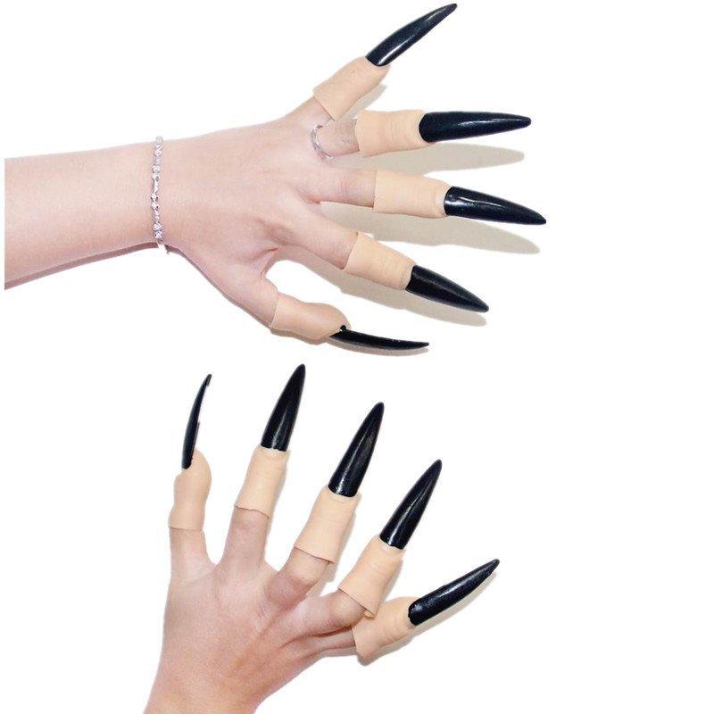 艾蜜莉舞蹈用品*表演道具*萬聖節吸血鬼指甲 巫婆黑指甲-購買價 100元