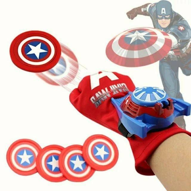 復仇者聯盟 美國隊長 星際大戰蜘蛛人鋼鐵人手套發射器 附四發射器 萬聖節聖誕節兒童英雄角色扮演玩具 ( )