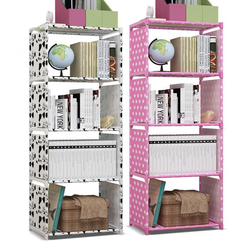 5層簡易書架 小書架收納架 書櫃兒童桌面 兒童自由 加固儲物收納柜 學生組裝書櫃落地置物架學生桌上 【言成商城】
