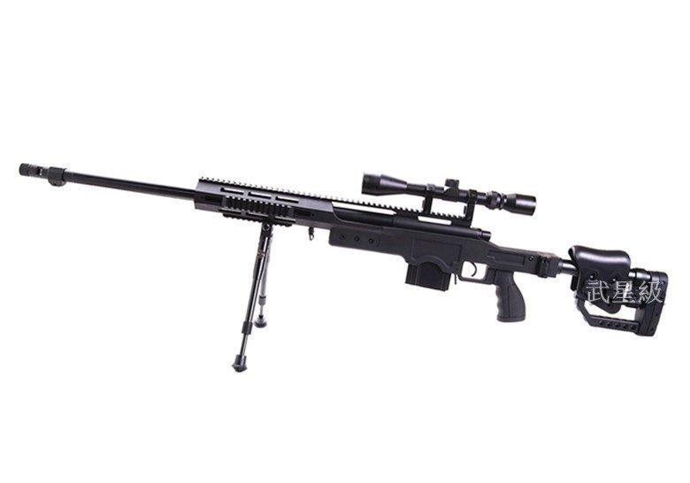 台南 武星級 WELL 4411 狙擊槍 手拉 空氣槍 (BB槍BB彈長槍步槍卡賓槍馬槍瞄準鏡狙擊鏡腳架