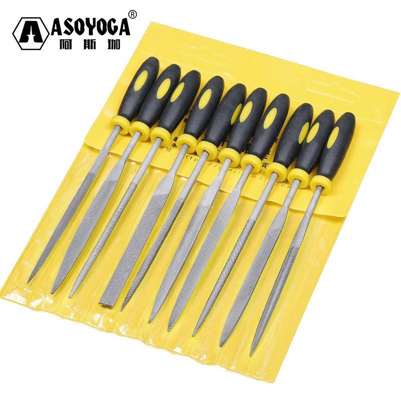 雜貨小鋪 銼刀套裝木工打磨工具小挫刀什錦鋼銼金屬三角半圓迷你整形銼木搓