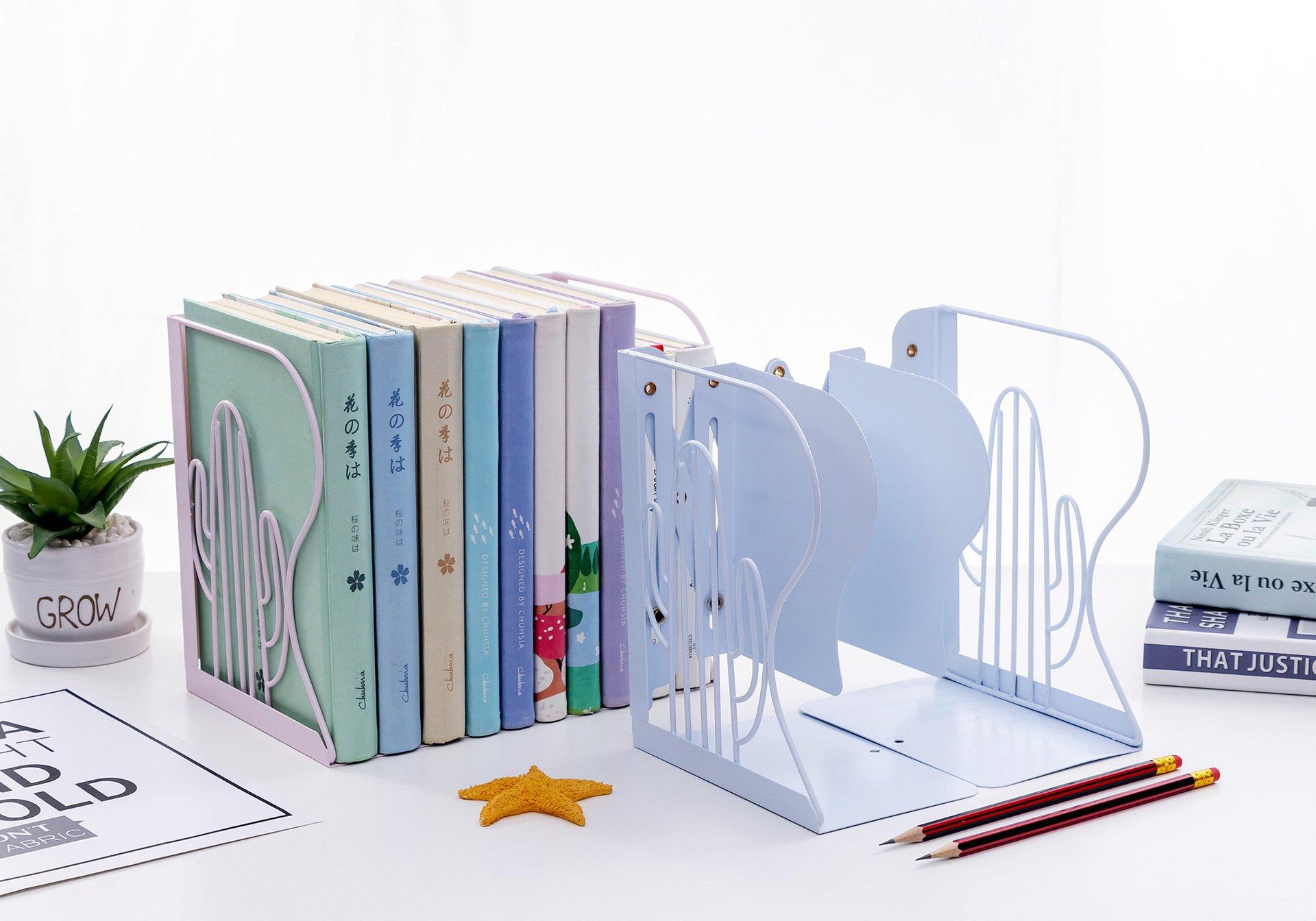 【仙人掌簍空書架】 AP0986 自由調整 鐵藝簡約書架 立架 可伸縮書架 學生書架 課桌書本支架 書架 辦公書架
