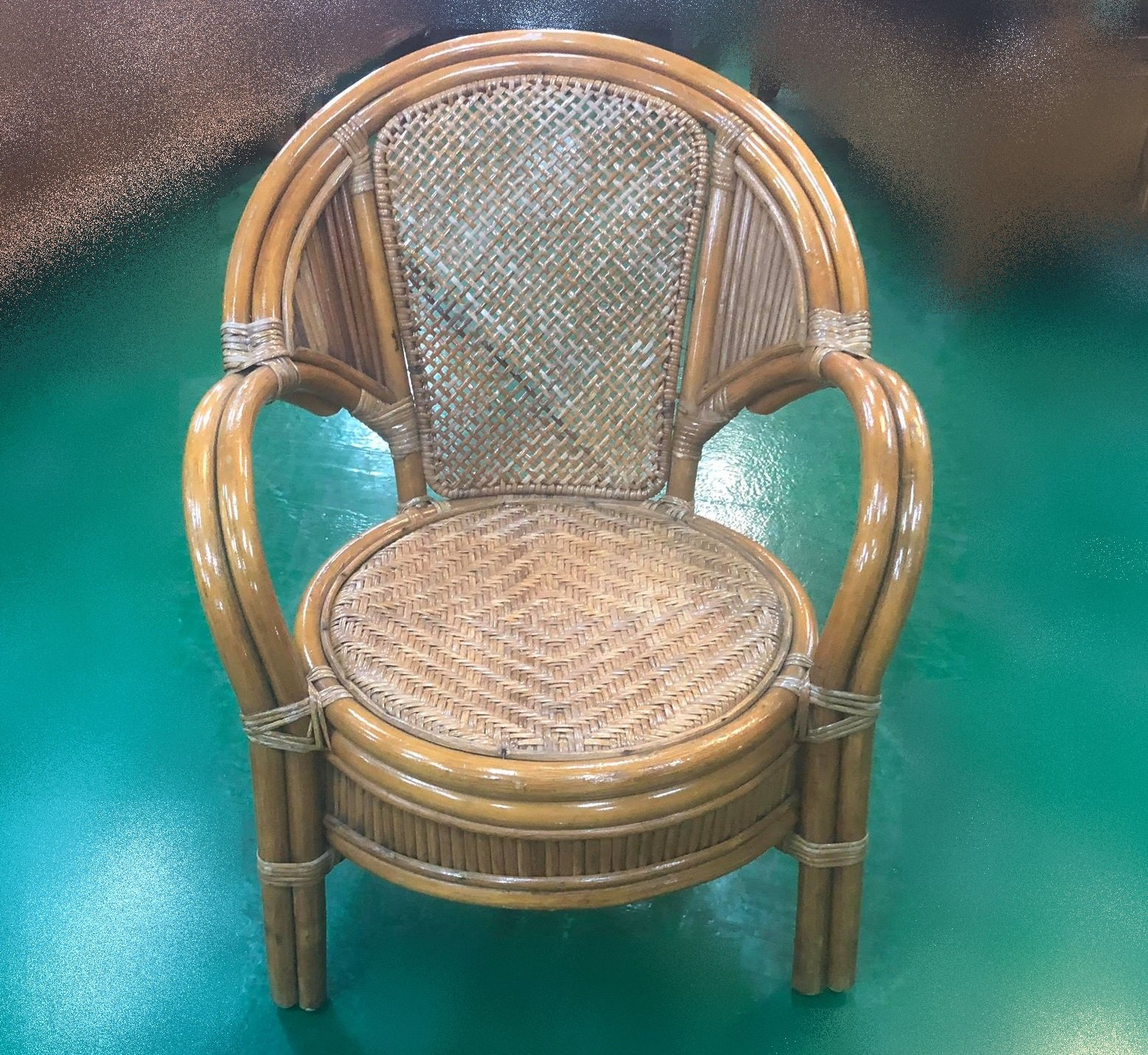 台中二手家具賣場 推薦 大里宏品全新中古傢俱家電 F101603*藤製椅 兒童椅 戶外休閒椅*2手桌椅 台北新竹南投彰化