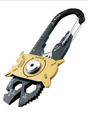 [ ]萬用鑰匙圈 萬能鑰匙圈 多 開瓶器 螺絲起子 銼刀 拔釘 刀片