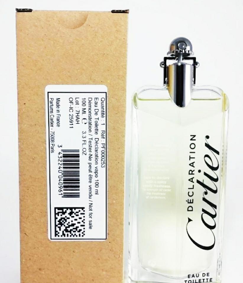 Cartier Declaration 卡地亞 宣言男性淡香水 tester/1瓶/100ml-新品正貨