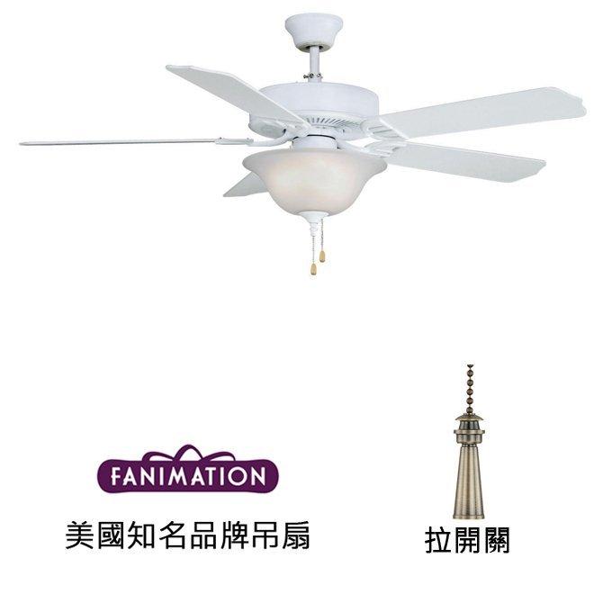 Fanimation Aire Decor 52英吋吊扇附燈(BP220MW1)平白色 適用於110V電壓