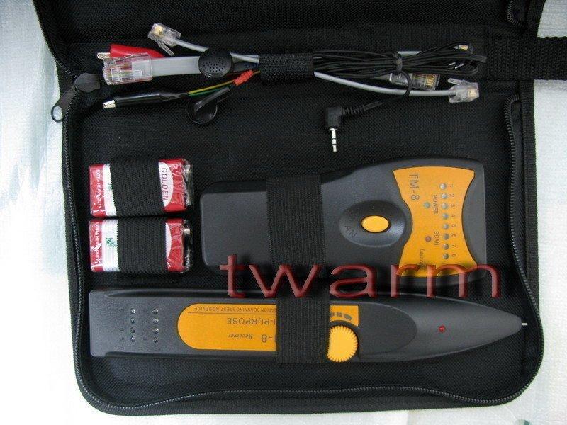 《德源科技》r)TM-8 智能尋線儀 尋線器 查線儀 查線器 查對器 網線測試儀