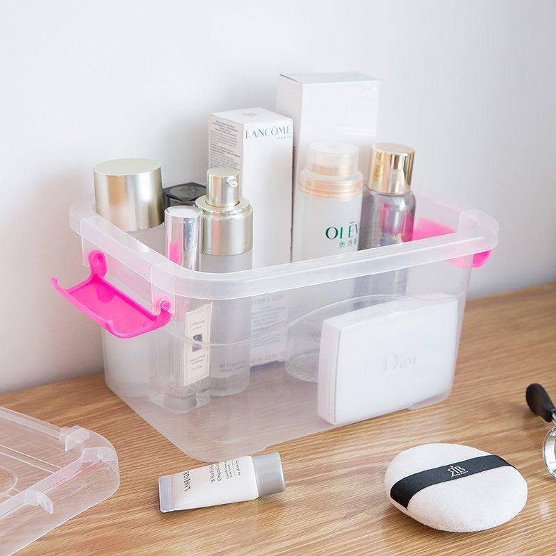 收納家居!!!可手提加厚透明收納箱塑料盒子有蓋儲物箱玩具衣服整理箱收納盒